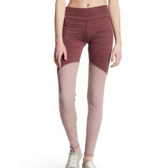 Free People Pants - Free People Movement Evolution in Wine Leggings
